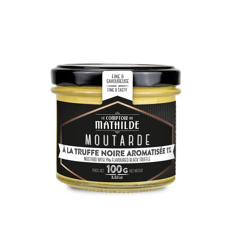 Mustard with 1% flavoured Black Truffle