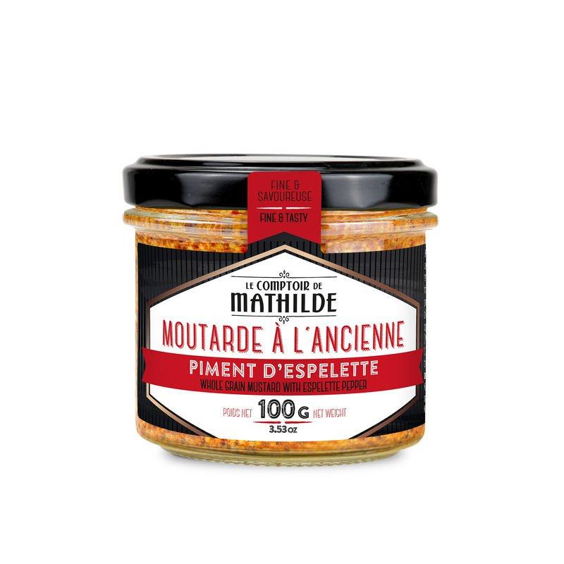 Moutarde à l'ancienne au Piment d'Espelette 100g