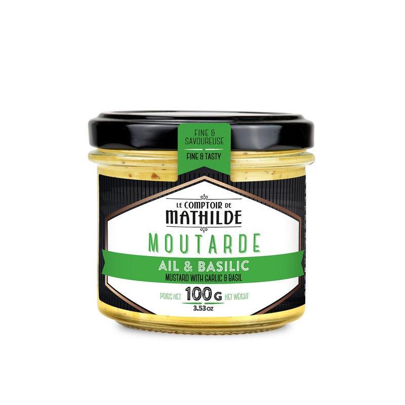 Mustard with Garlic & Basil 100g