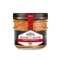 Moutarde à l'ancienne au Piment d'Espelette 250g