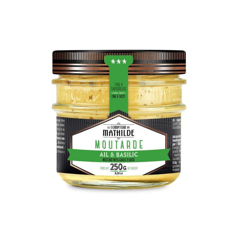 Mustard with Garlic & Basil