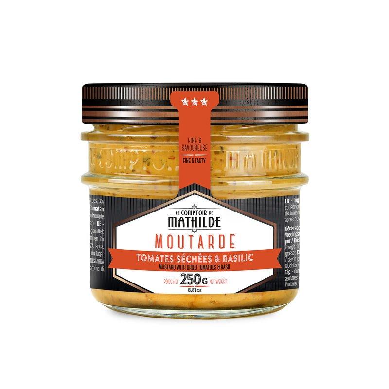 Moutarde aux tomates séchées et au basilic 250g