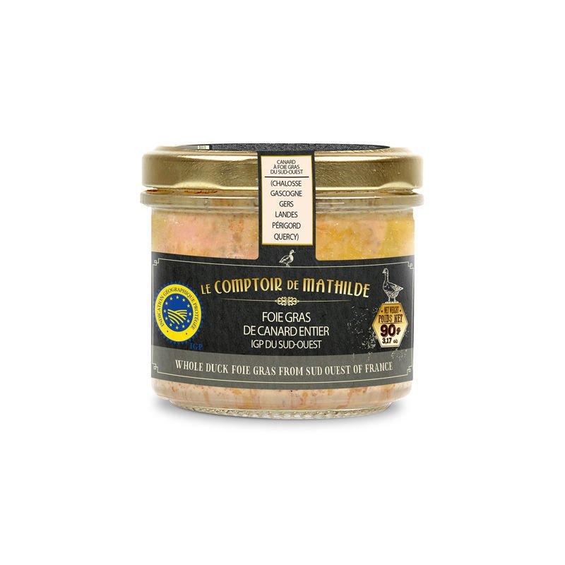 Foie gras de canard entier du Sud-Ouest IGP 90G