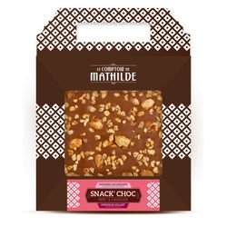 Milk chocolate with caramelised almonds and hazelnuts Snack'choc nomad 7.05 oz