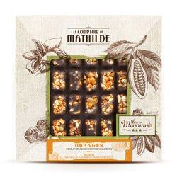 Mendiant Noir Orange et Fruits Secs Caramélisés Chocolat Noir