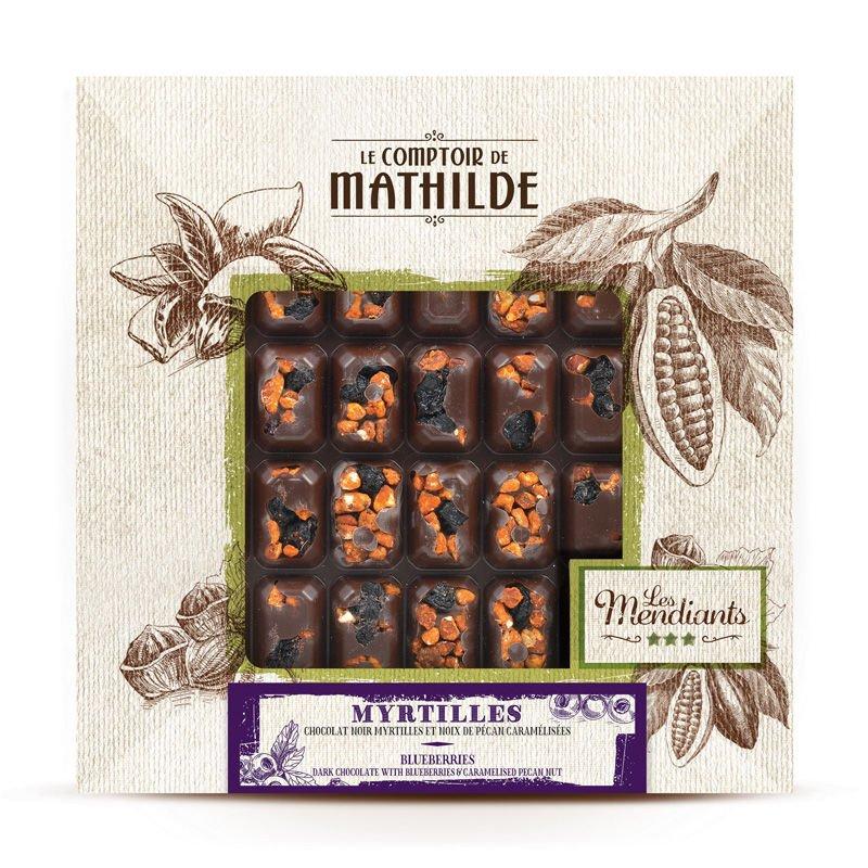 Mendiants Dark Chocolate with Blueberries & Caramelised Pecan Nut