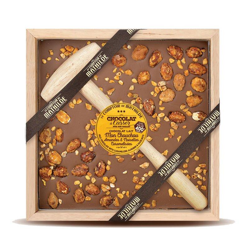 Mon Chouchou Amandes & Noisettes Caramélisées - Chocolat à casser