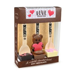 Love Collection 3 Hot Chocolate set with assorted figures