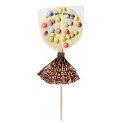 Party White Chocolate - Chocolate lollipops
