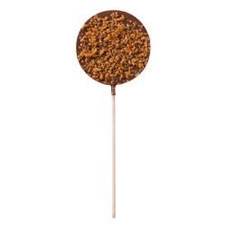 Caramel milk chocolate - Chocolate lollipops