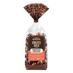 Grilled hazelnut milk and dark chocolate