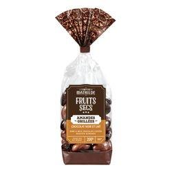 Grilled almond milk and dark chocolate