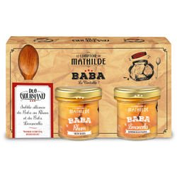 Baba spoon set with Rum baba & Limoncello 2x3.52oz
