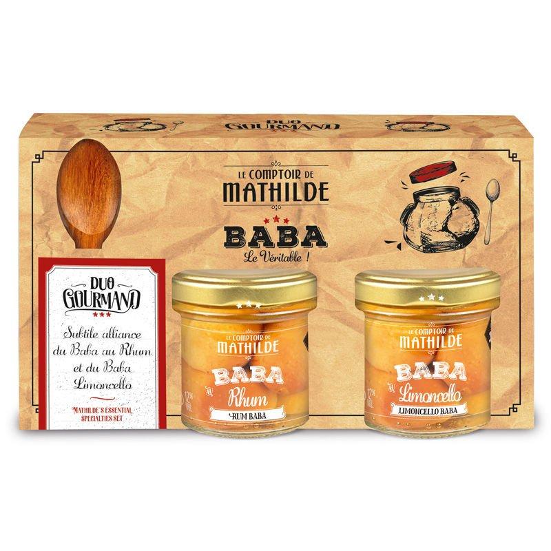 Baba spoon set with Rum baba & Limoncello 2x3.52oz
