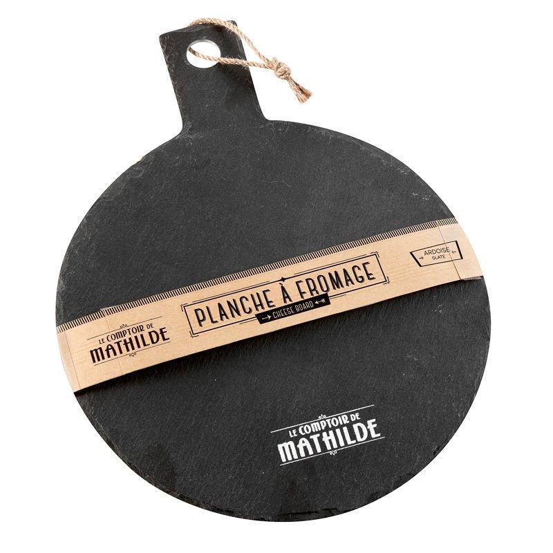 Slate cheese board L35 x P25 x H0,5cm
