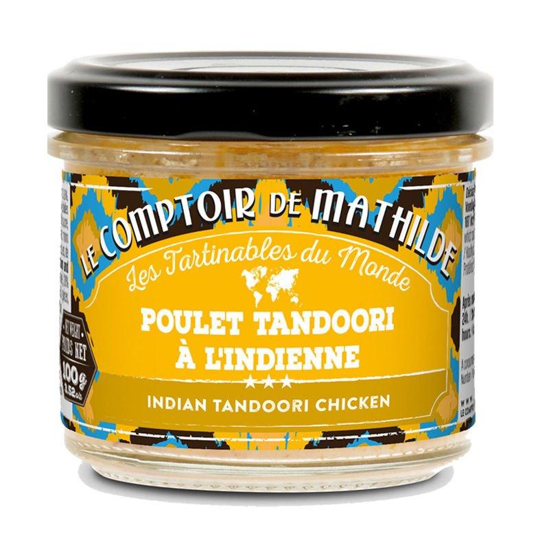 Poulet tandoori à l'indienne de crème et d'épices tartinable 100g
