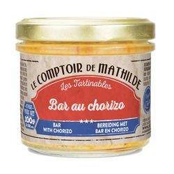 Bar au chorizo tartinable de la mer 100g