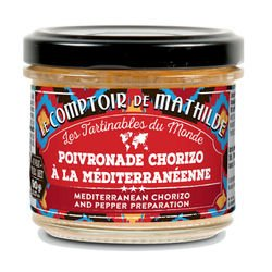 Poivronade Chorizo à la méditerranéenne poivron tartinable 90g