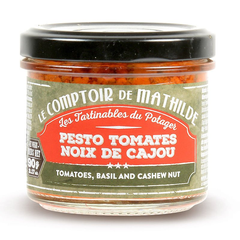 Tomatoes, basil and cashew nut spreadable 3.17oz