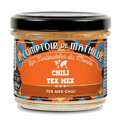 Chili tex mex légumes épicés tartinable 3.52oz