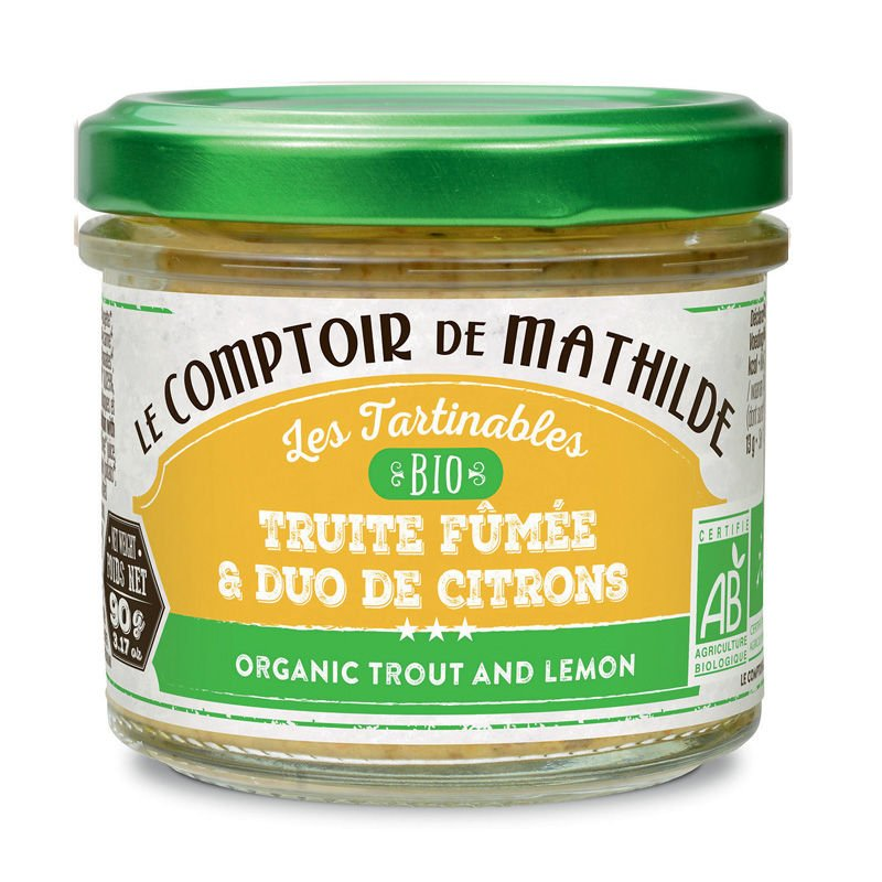 Organic trout and lemon spreadable 3.17oz