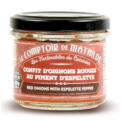Confit d'oignons rouges au piment d'Espelette tartinable 90g