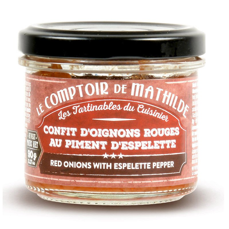 Confit d'oignons rouges au piment d'Espelette tartinable 90g