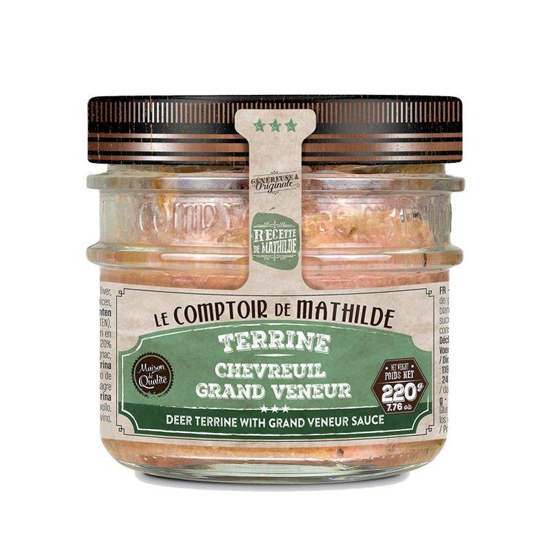 Terrine de Chevreuil à la sauce Grand Veneur 220g