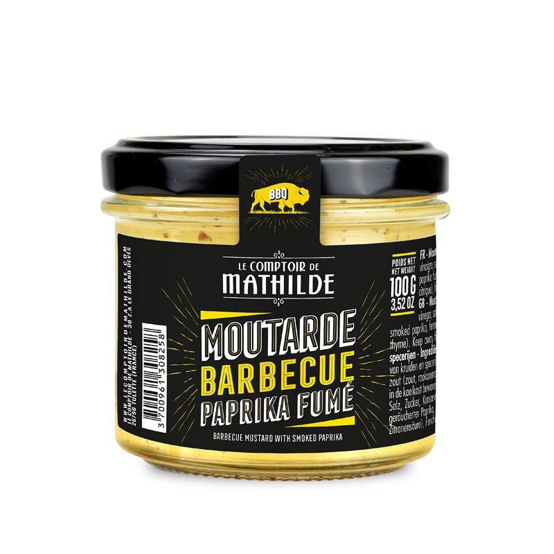 Mustard with smoked paprika - Barbecue 3.52oz