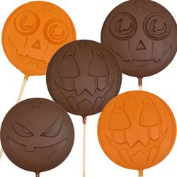 Milk chocolate and coloured cocoa butter lollipop assortment