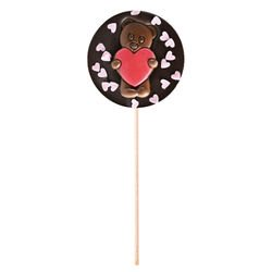 Dark chocolate lollipop Pink Hearts Valentin's day gift
