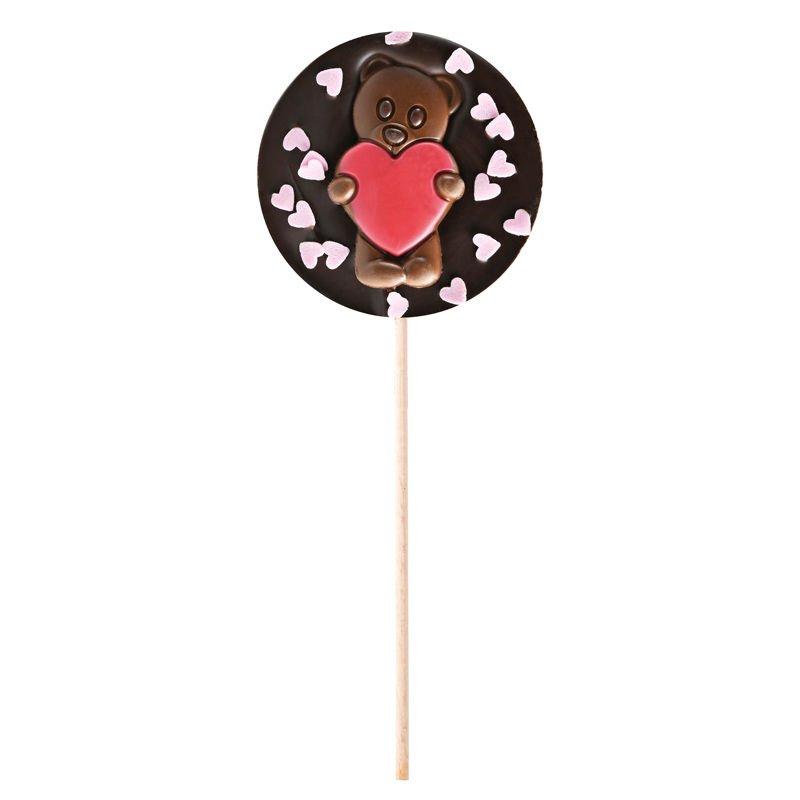 Dark chocolate lollipop Pink Hearts Valentin's day gift