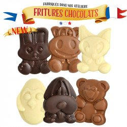 Assorted 3 chocolate animals figures Easter