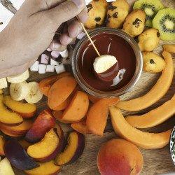 Fondue de Chocolat au Lait et mini-guimauves