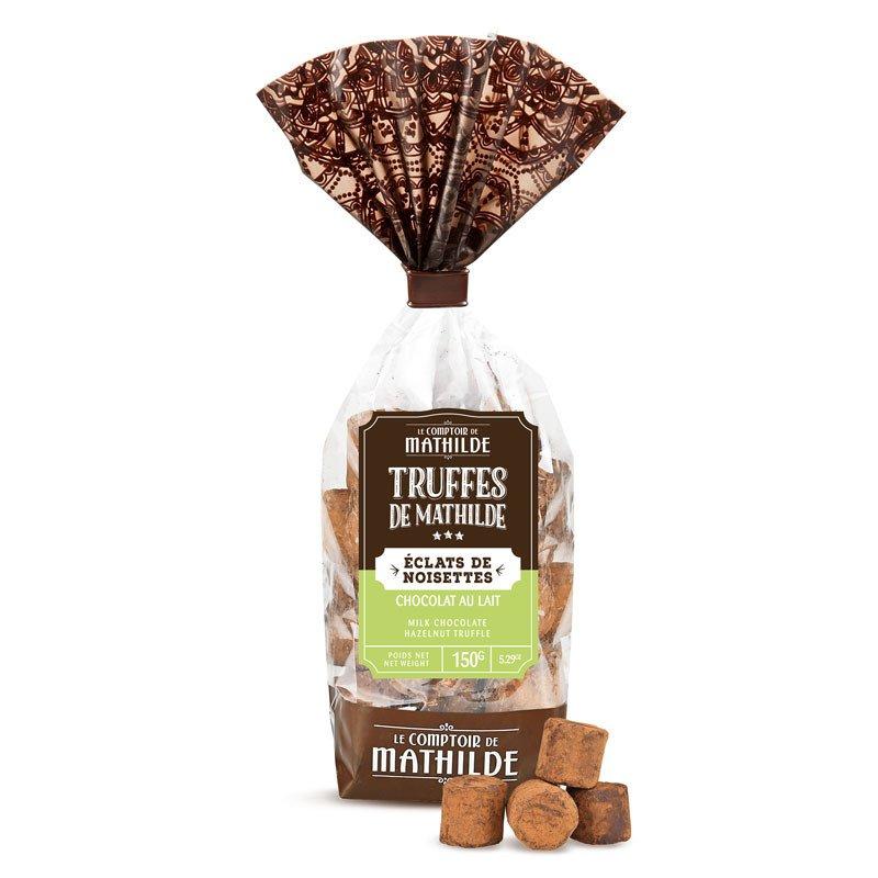 Milk Chocolate truffles with hazelnuts