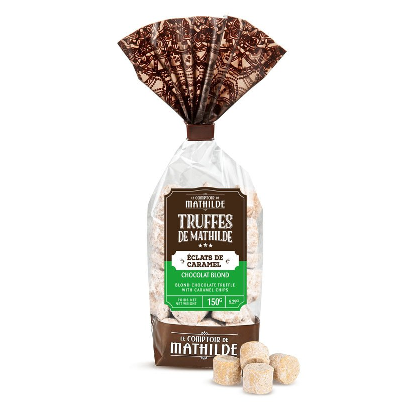 Truffe Chocolat Blond aux éclats de caramel 150g