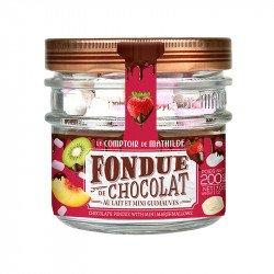 Milk Chocolate Fondue with 0.70oz of marshmallows
