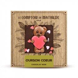 Tablette Cœur - Chocolat noir