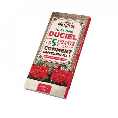 Christmas dark chocolate bar