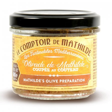Mathilde's olive Black and green olives chopped with knife spreadable 3.17 oz