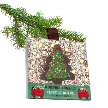 Christmas milk chocolate square