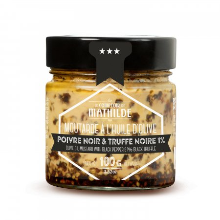 Mustard with black pepper & 1% black truffle 100g