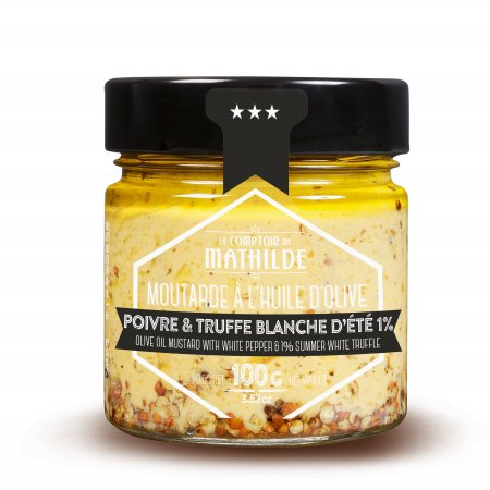 Mustard with white pepper and 1% summer white truffle 3,52oz