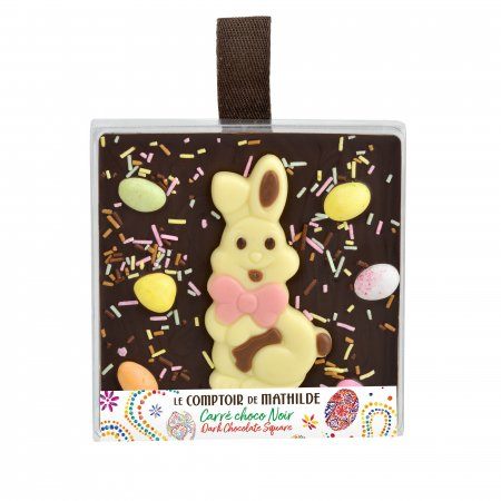 """Spring Edition"" Dark Chocolate square - Easter Edition"
