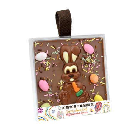 """Spring Edition"" Milk Chocolate square - Easter Edition"
