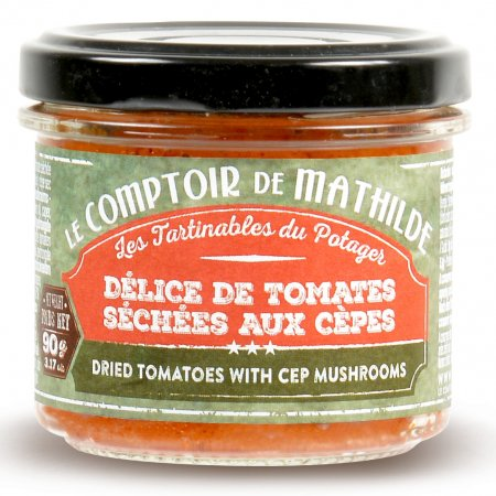 Dried tomatoes with cep mushrooms spreadable 3.17oz