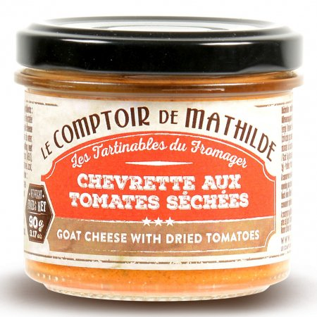 Goat cheese with dried tomatoes spreadable 3.17oz