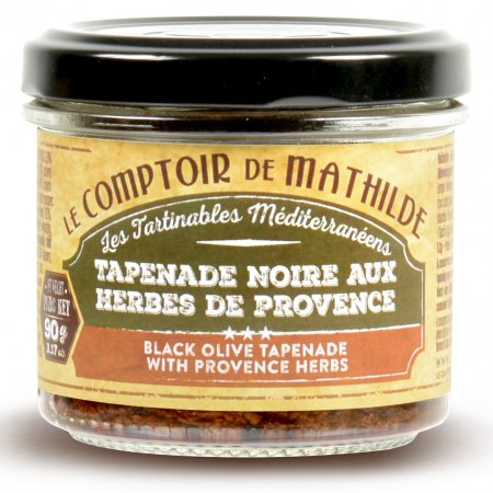 Black olive tapenade with Provence herbs spreadables 3.17 oz