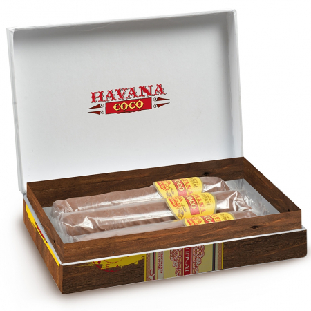 ''Havana coco'' Chocolate cigar filled with coconut - 3 Pieces